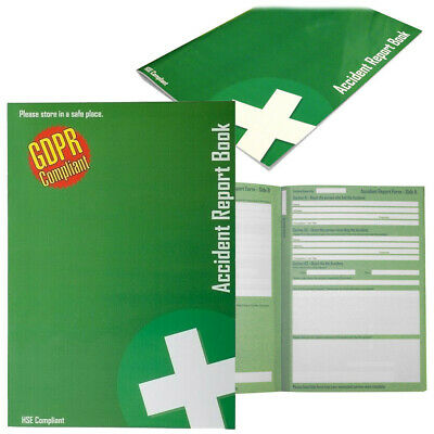Accident Report Book, HSE Compliant, Data Protection 1998, RIDDOR