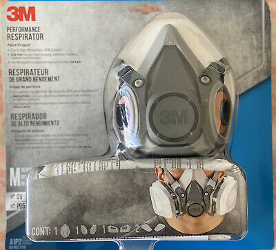 *ORIGINAL* 3M Performance Respirator - Half Face- NIOSH Approved - Size: Medium