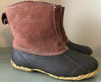 RedHead All-Season Classic II Zip-On Insulated Waterproof Rubber Boots Mens 10