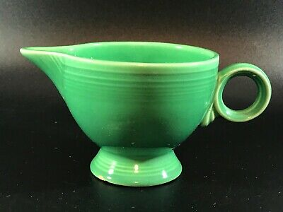 Vintage Homer Laughlin Fiesta Fiestaware Light Green Ring Handled Creamer 193651