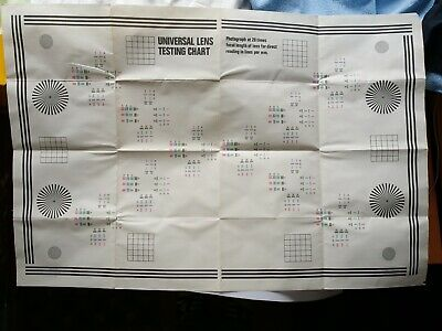 Vintage Universal Lens Testing Chart and Instruction Booklet