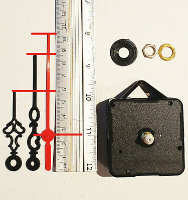 Clock Mechanism Quartz Movement With Hanger & Long Plastic Hands Wont Bend.