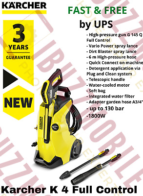 Kärcher K4 Full Control 1800W Pressure Washer Car Bike Patio Garden Home Cleaner