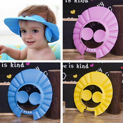 Adjustable Baby Kids Shampoo Cap Bath Hat Bathing Hair Shower Wash Caps Hats New