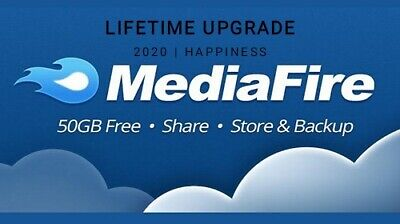 MediaFire 50 GB Lifetime Upgrade ☆Permanent Spac☆ Friends Referral Service 2020