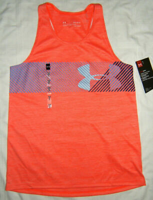 Under Armour NWT Size S M L XL Girls Youth UA Tank Top Mojo Pink Lavender Words