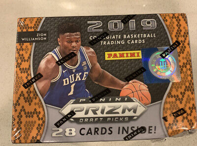 2019-20 Panini Prizm NBA Draft Picks Collegiate Basketball Blaster Box (Zion)