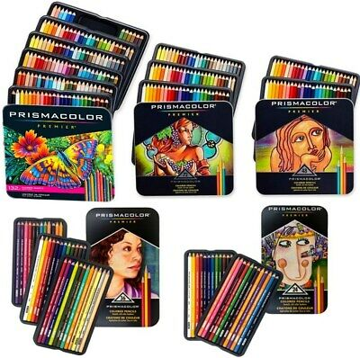 Prismacolor Premier Coloured Colouring Pencils in Tin Set 12 24 36 48 72 132 150