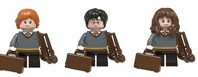 Figurine - HARRY POTTER - NEUF - Harry + Ron + Hermione - Minifig