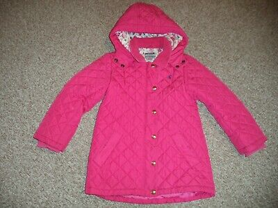 Joules girl's pink quilted jacket size 8 years