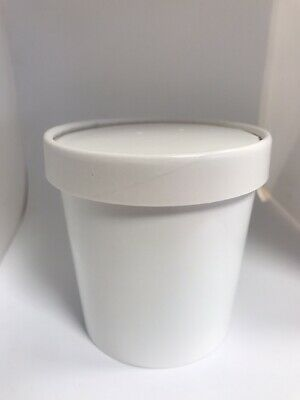 25 NEW WHITE 16oz Vented Hot food cups container with lids Take away