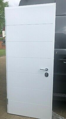 High Security Front Doors -Steel with timber panels both sides