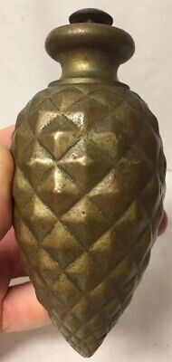 ANTIQUE BRASS PINE CONE FINIAL FOR STAIRCASE POST SALVAGE or CLOCK WEIGHT