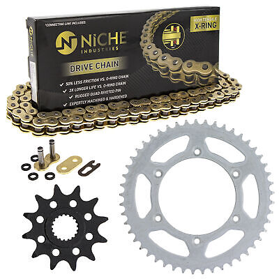 Sprocket Chain Set for Suzuki RM125 12/49 Tooth 520 X-Ring Front Rear Combo Kit