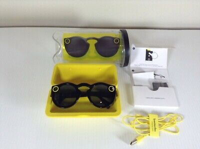 Snapchat Snap Inc Original Spectacles Black Onyx Yellow Case Charging Case 2016