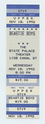 Beastie Boys Ticket 1992 Nov 18 The State Palace New Orleans Unused