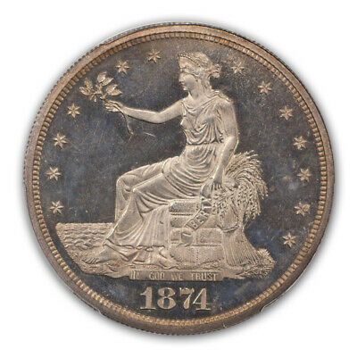 1874 T$1 Trade Dollar PCGS PR65CAM (CAC)