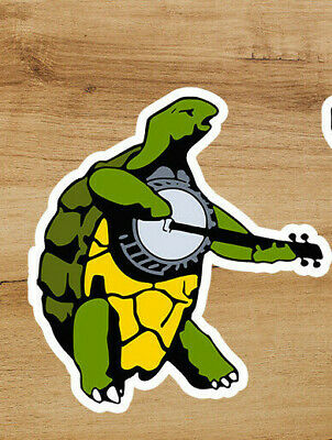 Grateful Dead Banjo Turtle Premium Deadhead Sticker 3 in Jerry Garcia
