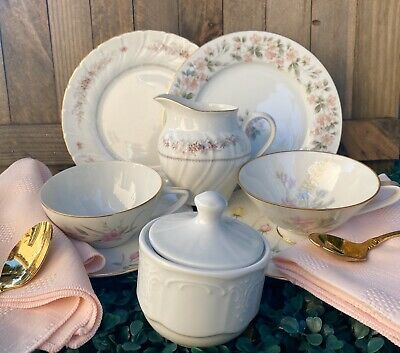 Pink VINTAGE LOT Mismatch China 2~Trio Sets ~TeaCup Saucer Dessert Plate ~EXTRAS