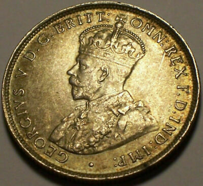 British West Africa, 1913 George V Two Shillings, 2 Shillings. 2,100,000 Mintage