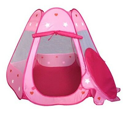 Girls Pink Princess Play Tent Indoor and Outdoor, Children Play Tent for Girls