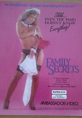 Colleen Brennan in Family Secrets Video  Promo Ad Slick Poster
