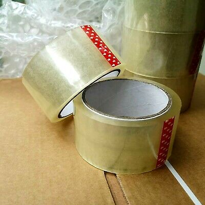 🌟 BIG Clear Sellotape Roll  48mm x 50m Parcel Packing Packaging Sealing Tape UK