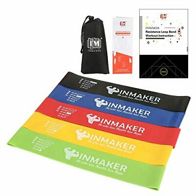 INMAKER Resistance Bands for Women and Men, Exercise Bands for Legs and Glutes,