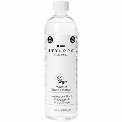 STYLPRO 500ml Makeup Brush Cleanser Solution for Non-Soluble Makeup Removal -
