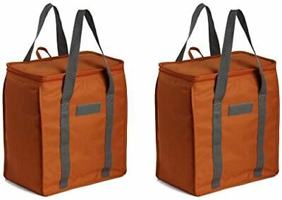 Earthwise Reusable Insulated Grocery Bags Heavy Duty Nylon Thermal Cooler ( 2 )