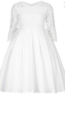 Monsoon Flower Girls Ivory Lace Long Sleeves Dress Age 11 BNWT