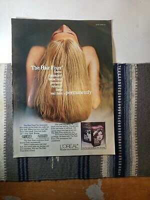 1977 L'Oreal The Hair Fixer Treatment Print Advertising V3