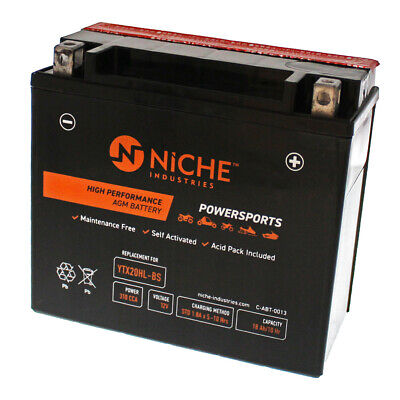 NICHE AGM Battery 1976-2017 Sea-Doo Kawasaki Polaris Yamaha YTX20HL-BS
