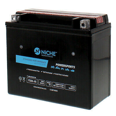 NICHE AGM Battery 1976-2017 Honda Kawasaki Sea-Doo Jet Ski AquaTrax YTX20L-BS