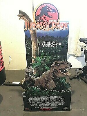 Jurassic Park Movie Pop Up Standee Display FACTORY SEALED and super RARE!!
