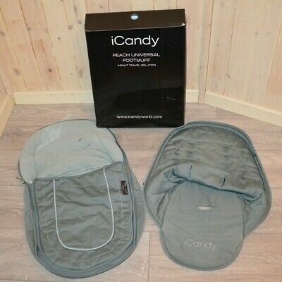 iCANDY PEACH JOGGER ALL TERRAIN FOOTMUFF COSYTOES + SEAT UNIT LINER AVOCADO