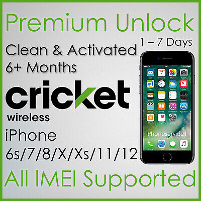 PREMIUM CRICKET FACTORY UNLOCK SERVICE FOR IPHONE 11Pro 11 Xs Xr X 8 7 6s 6
