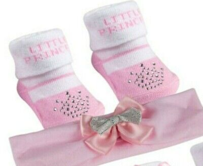 Baby Girls Socks booties and Headband Gift Set age 0 -12 months