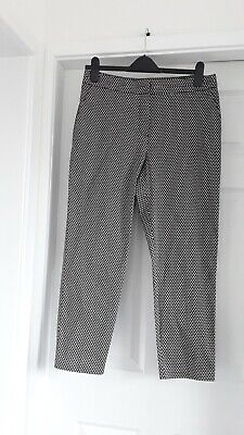 M/&S Classic Size 14 Short Tapered Pull On Casual Trousers Bnwt Brown Mix