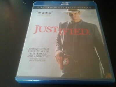 Justified : The Complete First Season One (Blu-ray, 2011, 3-Disc Set) brand new