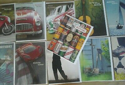 30 Male Cards, Wholesale Joblot Greeting Cards