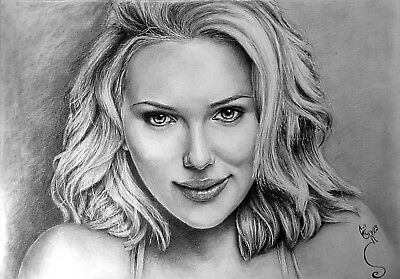 Custom made A2 drawing portrait sketch in graphite and pencil from your photo