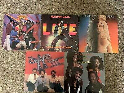 SOUL/FUNK/R&B Lot Of 5 ALBUMS -VG+ to VG++ VINYL -Marvin Gaye/Earth Wind & Fire
