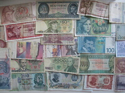 FINE-EF LOT 1000 PIECES HISTORIC BANKNOTES FROM HUNGARY VG