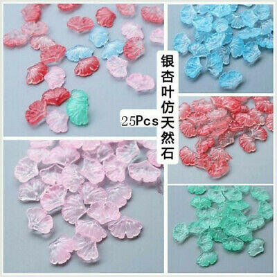 50Pcs Green Czech Lampwork Glass Leaf Pressed Beads 10x23mm HH6781 CHOOSE COLOR