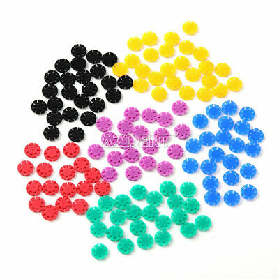 100 pcs Dental root canal file disinfection marking circle Ring counting stopper