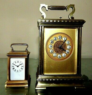 Antique Large French Repeater Rare Dial Carriage Clock For A Nhs Nurses Fund