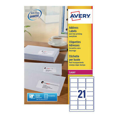 Avery Quickpeel L7160-500 Laser Address Labels (Pack of 10,500)