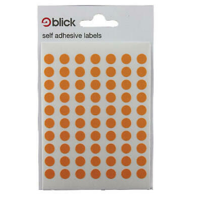 Blick Orange Coloured Labels in Bags (Pack of 20) RS002857