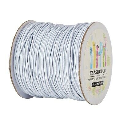 100Metres/roll White Round Elastic Cord 1mm Widths Cord IN STOCK HOT SALE !!!!